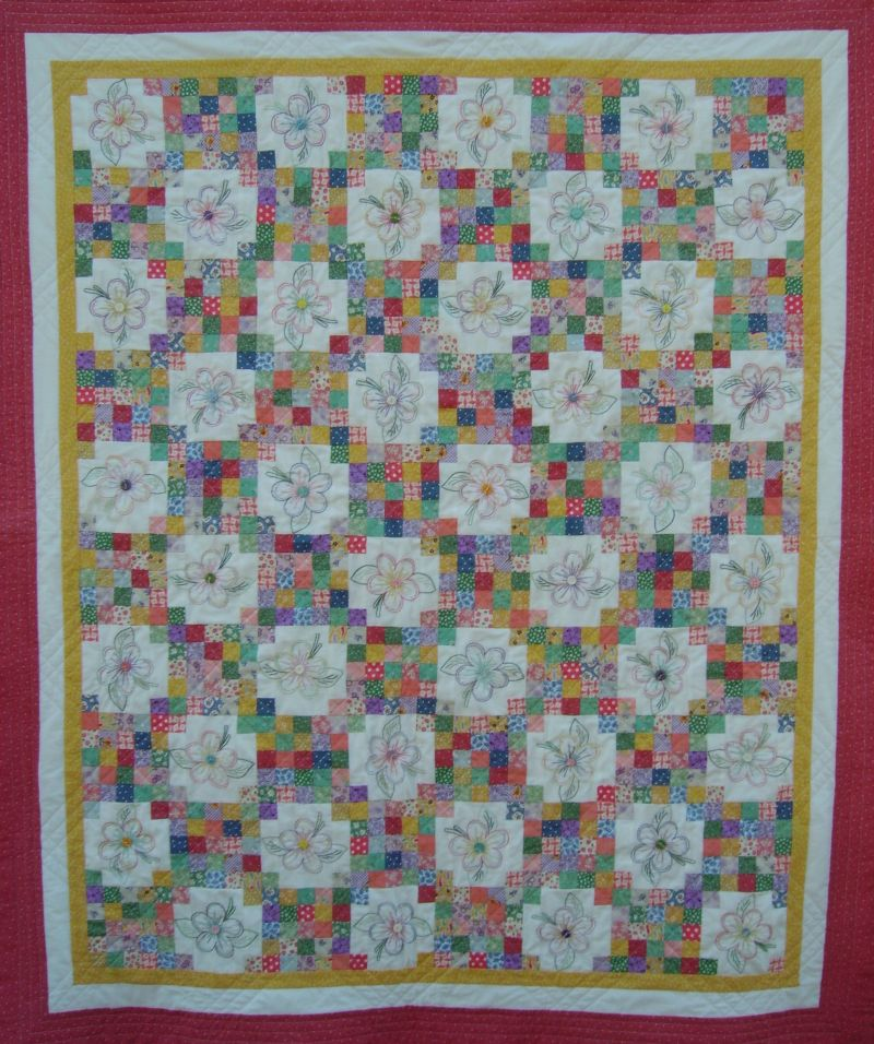 Tea Garden quilt pattern from Lazy Girl Designs