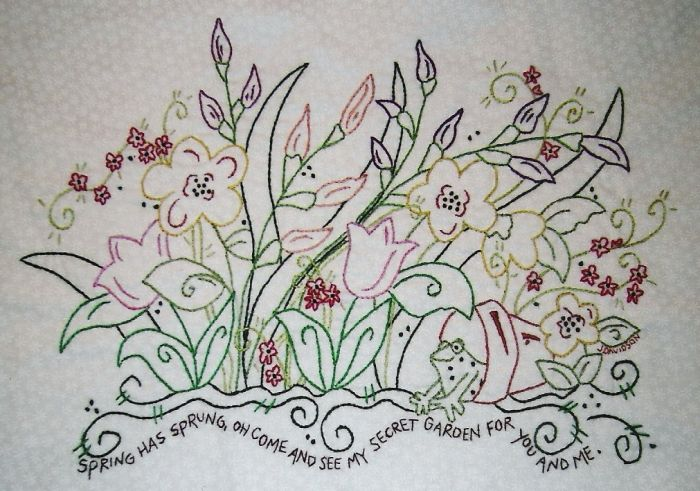 My Secret Garden Embroidery Project