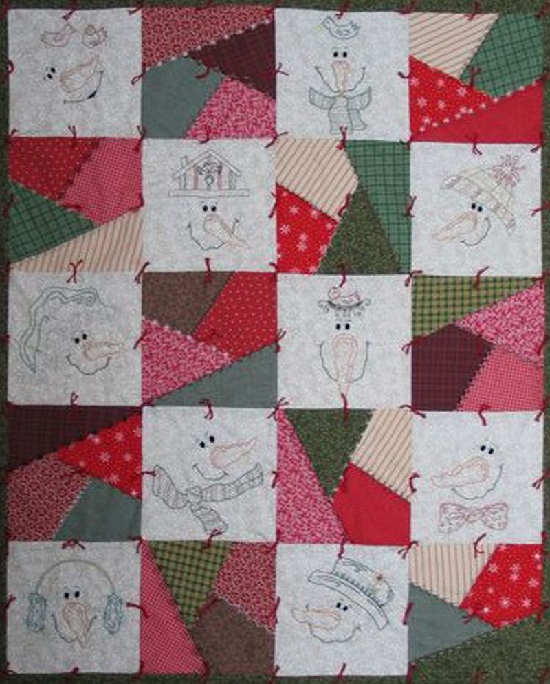 Free crazy quilt patterns free patterns for How to make a quilt template