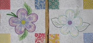 Color Garden Machine Embroidery - individual blocks