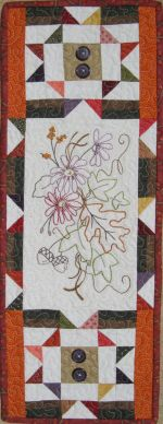 """October"" a hand embroidery mini pattern from Turnberrylane Patterns"