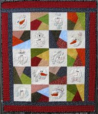 Machine Embroidery Quilt - Snow Crazy by Turnberry Lane Patterns