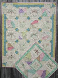 Dragonfly Crazy Machine Embroidery for Quilt