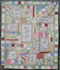 Spring's in the Air Machine Embroidery Quilt by Turnberry Lane