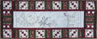 Peace on Earth - hand embroidery table runner pattern