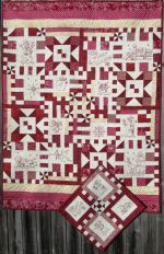 Winter Red Hand Embroidery Quilt