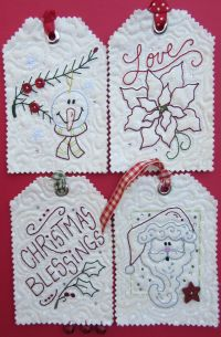 Holiday Tags II - Machine Embroidery