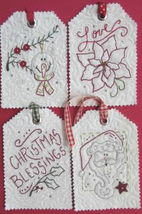 Holiday Tags II - Mini Hand Embroidery Pattern
