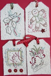 Mini Hand Embroidery - Holiday Tags