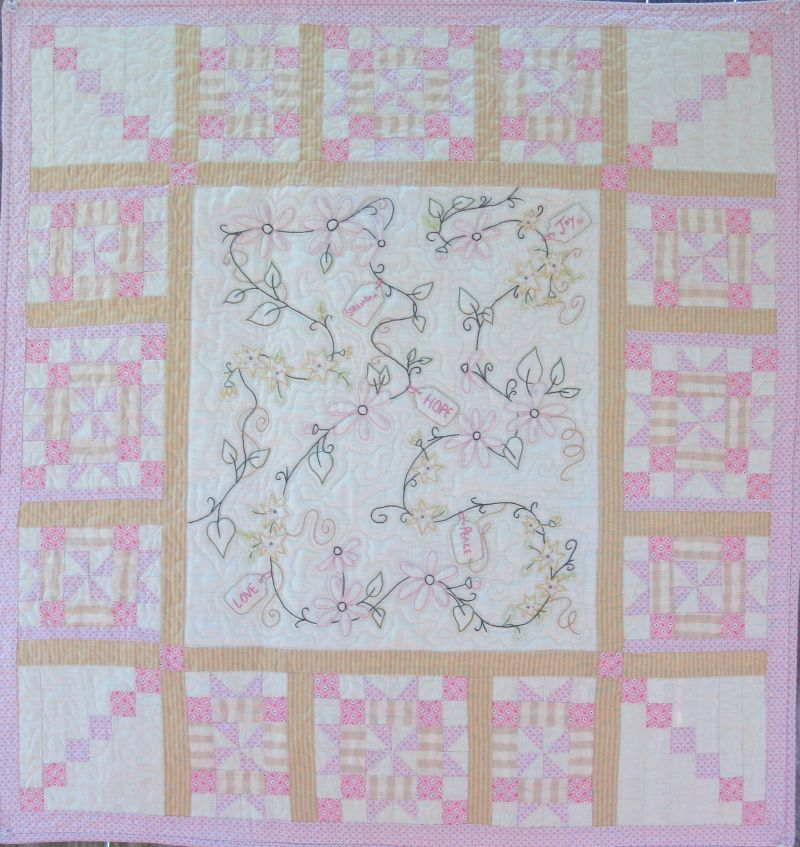 Embroidered Quilts Patterns Hand Embroidery Quilt Home And Garden Block  Bedrooms