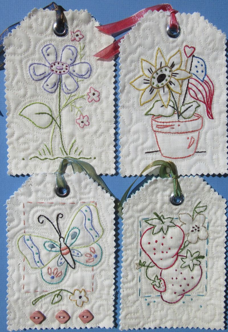 Mini Hand Embroidery Patterns To Use To Make Your Own Table Runners